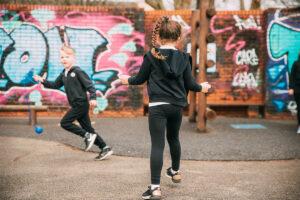 Two Children on Playground