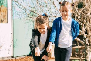 Two Children in Garden