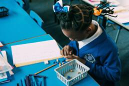 Children Counting Blocks